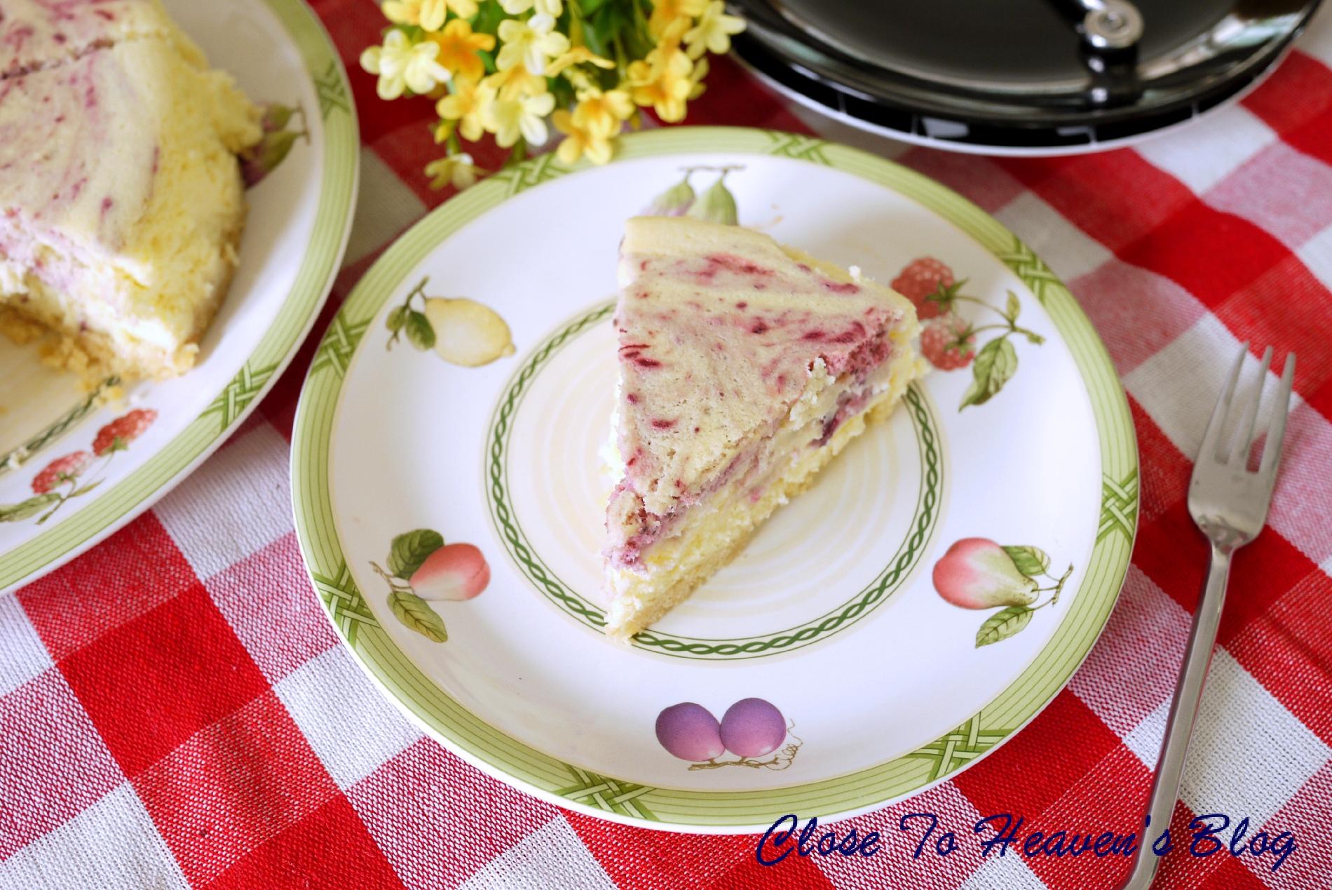 สูตรทำ ชีสเค้ก Mixed Berry Swirl Cheesecake