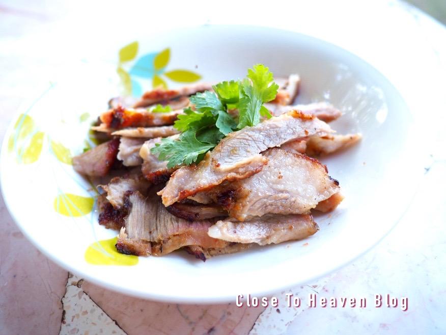 Grilled Pork Neck คอหมูย่าง [สูตรอาหาร]