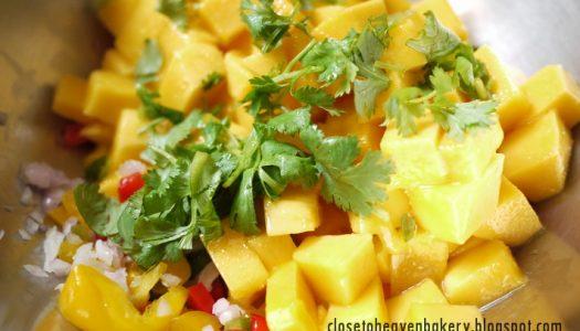 ซัลซ่า มะม่วง (Mango Salsa) เมนูสุขภาพ