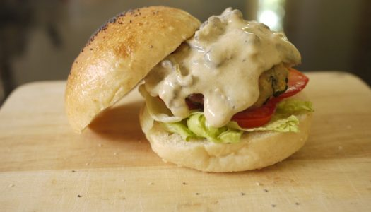 Homemade Whole Wheat Pork Burger สูตรทำ เบอร์เกอร์ กินเองที่บ้าน
