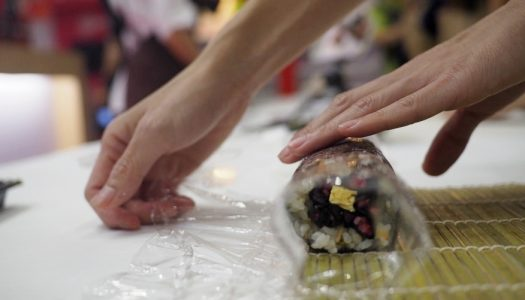 ข้าวญี่ปุ่น จากจังหวัด Miyagi นำมาทำ Futomaki ลายซากุระ