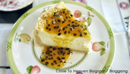 Passion Fruit Cheesecake ชีสเค้กเสาวรส