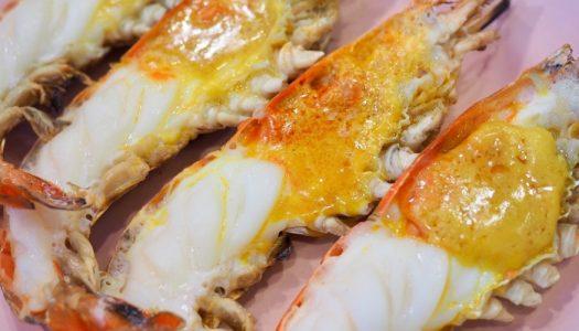 ร้าน ปลา 3 น้ำ ชวนไปกิน กุ้งเผา ปากเกร็ด นนทบุรี