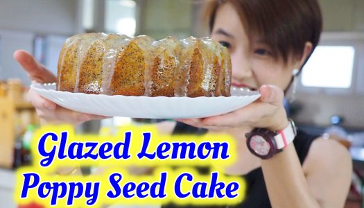 สูตรเค้ก Glazed Lemon Poppy Seed Cake