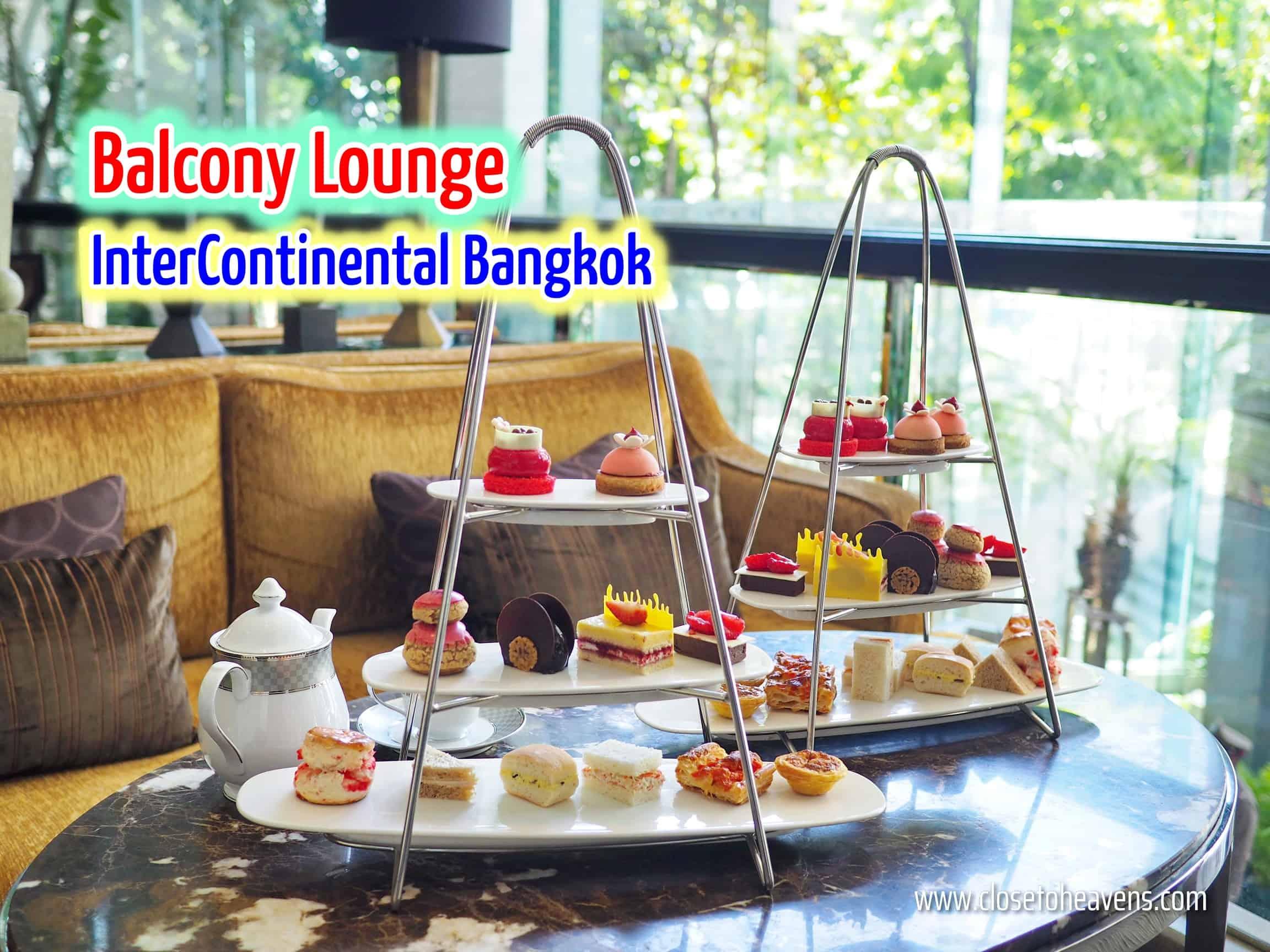 Cherry afternoon tea set @ Balcony Lounge, InterContinental Bangkok