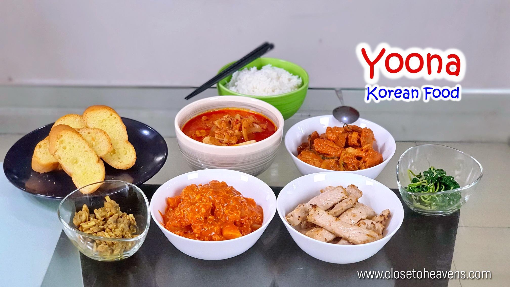 Yoona Korean Food ร้านอาหารเกาหลี ยูนะ