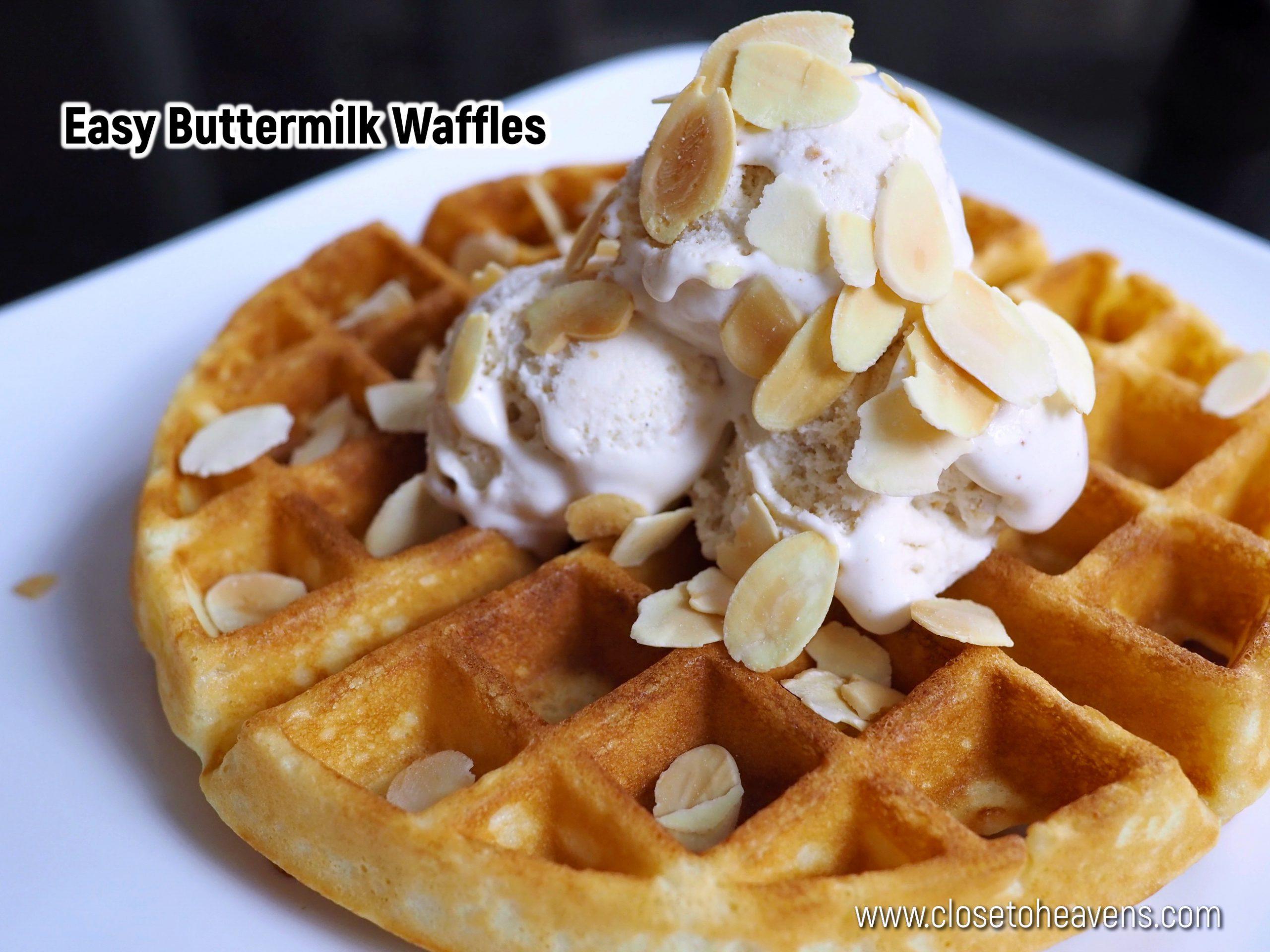 Easy Buttermilk Waffles สูตรวาฟเฟิล ทำง่ายที่สุดในโลก