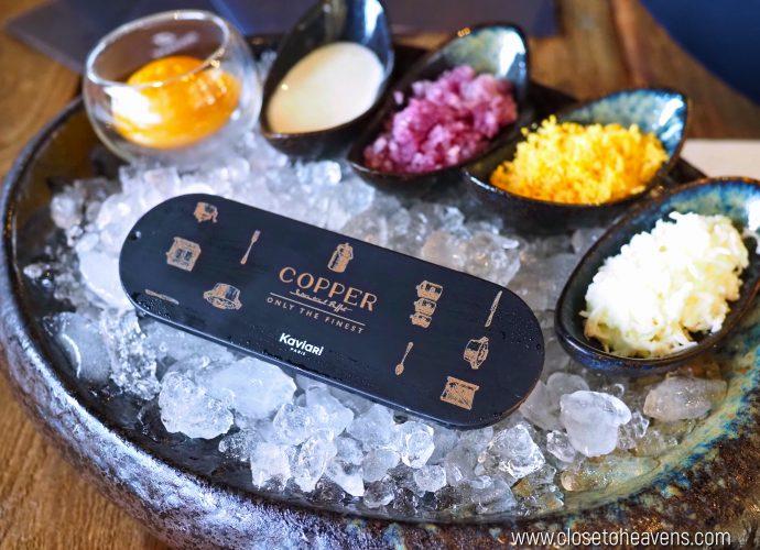Copper Buffet เสิร์ฟ Kaviari caviar แบรนด์ระดับโลกจากฝรั่งเศส