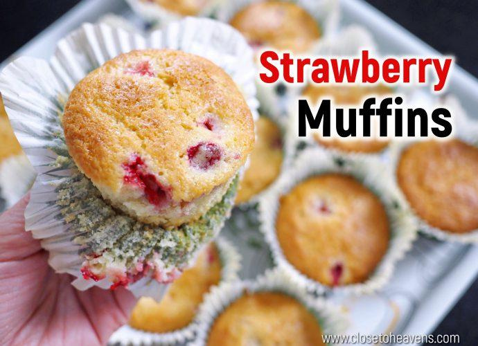 Best Strawberry Muffins สูตร มัฟฟิน สตรอเบอร์รี่