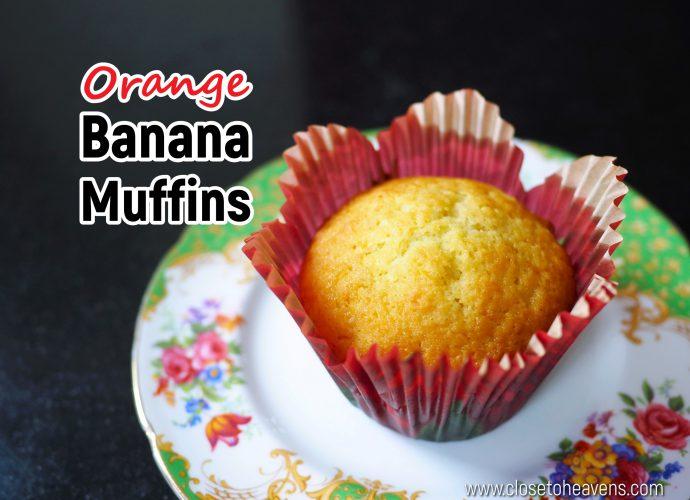 Orange Banana Muffins สูตร มัฟฟินกล้วยหอม & ส้ม
