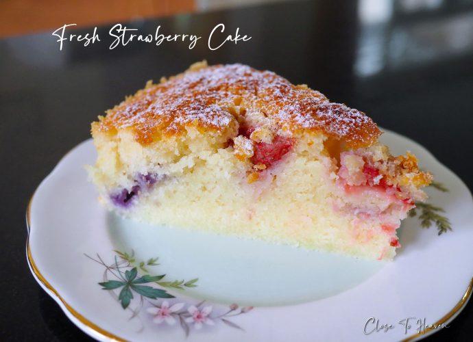 Fresh Strawberry Cake เค้กสตรอเบอร์รี่ หน้ากรอบ